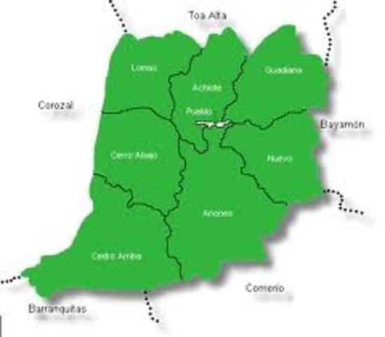 Listado de los barrios de Naranjito