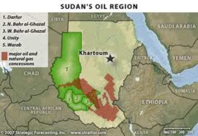 Oil was First Discovered in Southern Sudan.