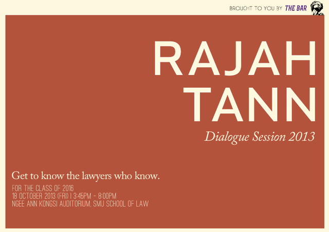 Rajah and Tann Dialogue and Networking Session