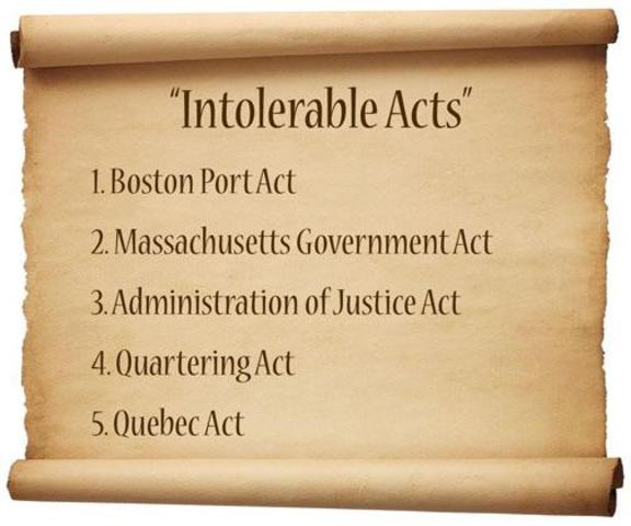 Intolerable Acts 2
