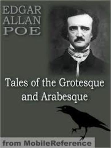 Poe's story collection Tales of the Grotesque and Arabesque is published in two volumes