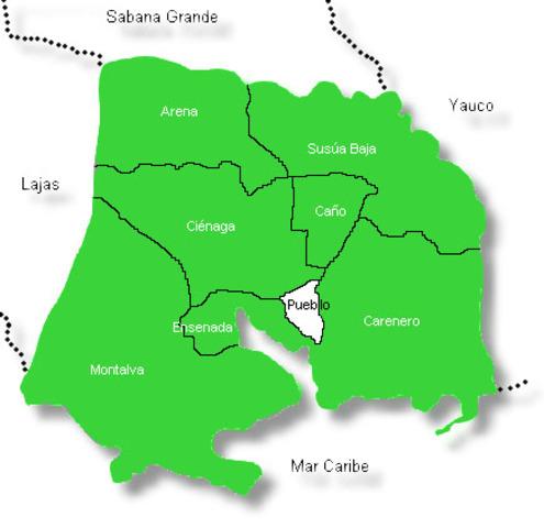 Pueblos que colindan con Guánica