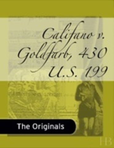 Califano v. Goldfarb