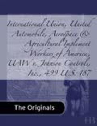 International Union, UAW v. Johnson Controls, Inc.