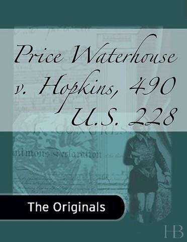 Price-Waterhouse v. Hopkins