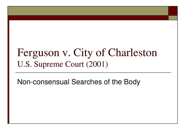 Ferguson v. City of Charleston