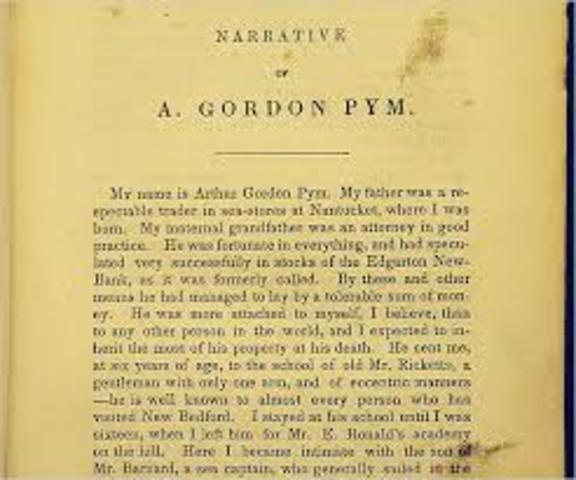 Poe writes his frist novel: The Narrative of Arthur Gordon Pym