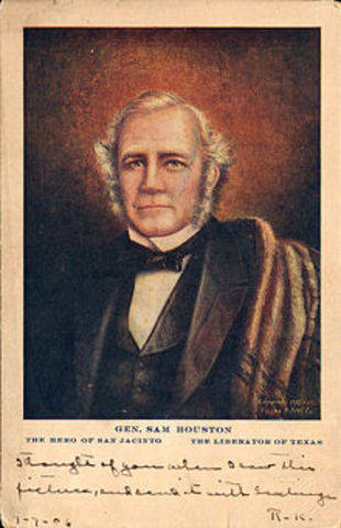 Sam Houston becomes a general