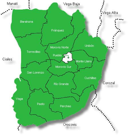 Lista de los barrios de Morovis