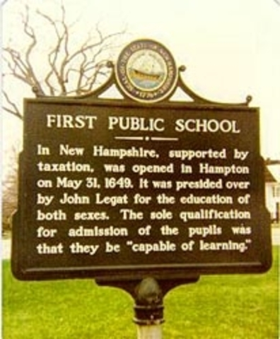 First public school in NH