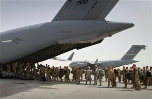 U.S. Toops Leaving