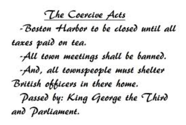 Coercive Acts