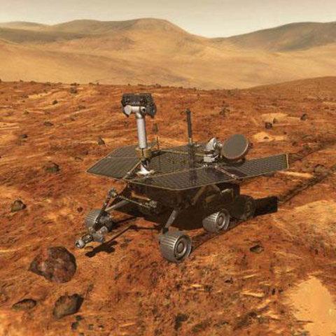 Robô recolhe imagens de água em Marte
