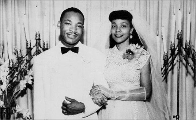 King marries Coretta Scott.