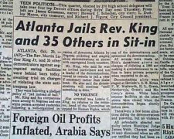King is arrested in Atlanta.