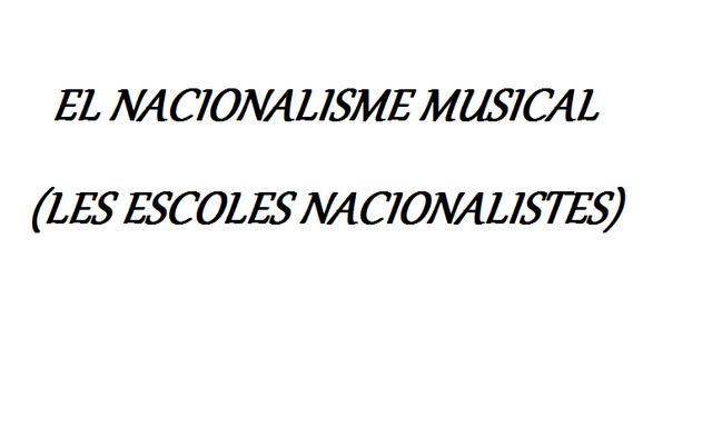 Inici del nacionalisme musical