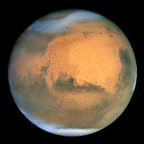 Planeta Marte passa pela menor distância à Terra