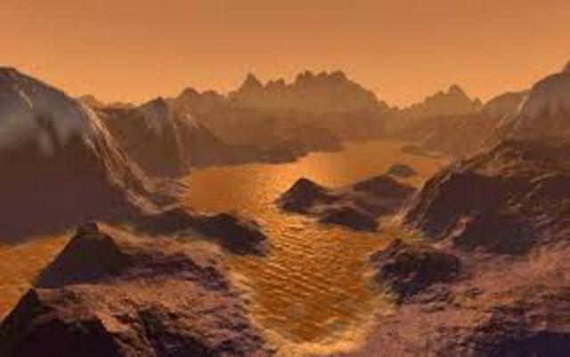 lagos de metano em Titã