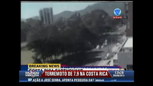 terremoto na Costa Rica