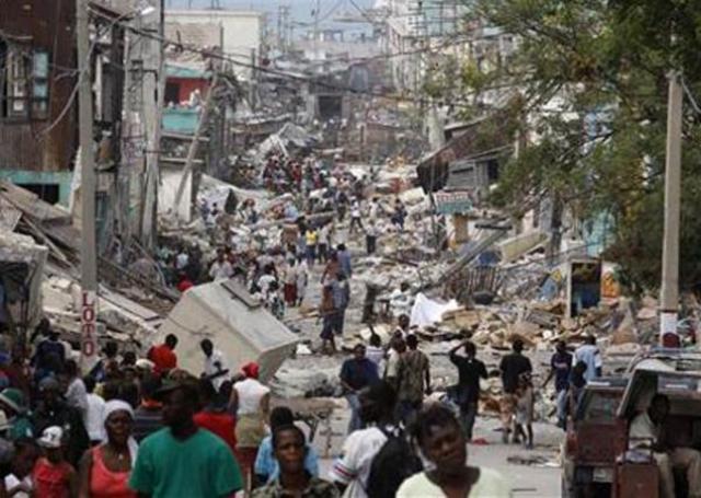 Destruição no Haiti