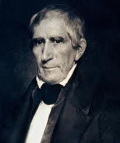 William Henry Harrison dies in office