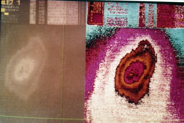 цветной полутоновый растровый дисплей Гамма-1