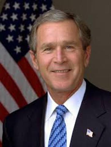 George Bush é eleito presidente.