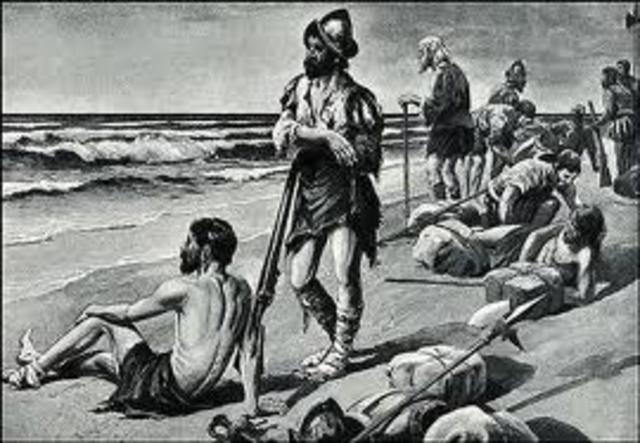 1528- first contact with Karankawa