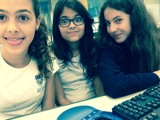 As três meninas se conhecem (Mafalda, Luísa X e Luisa V)