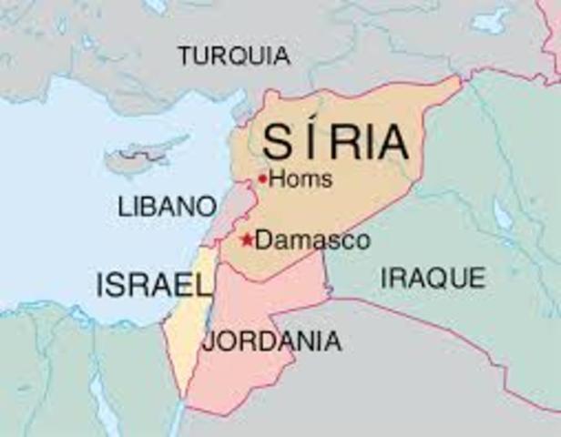 mapa da Síria no Oriente Médio