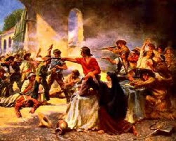 the battle for the Alamo