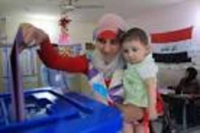 Iraquianas Votam em Bagdá