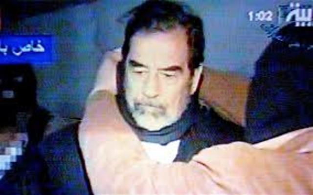 O ex-ditador iraquiano Saddam Hussein, condenado à forca