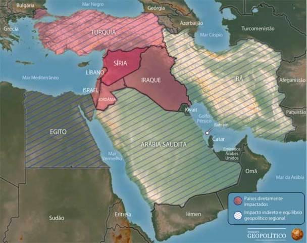 Siria no Oriente Médio (GEOGRAFIA)