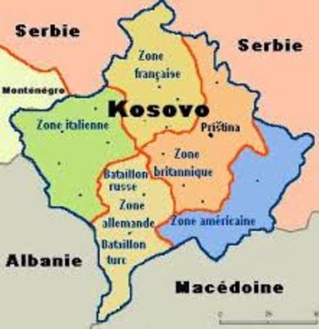 O Kosovo declara indepêndencia da Sérvia