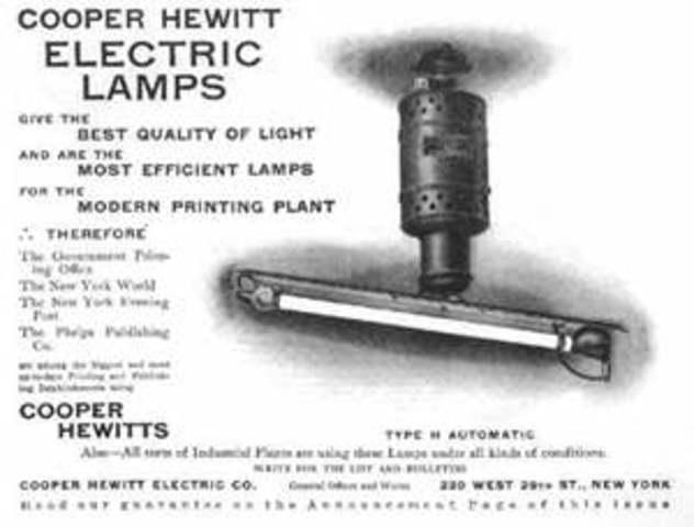 First Fluorescent Bulb