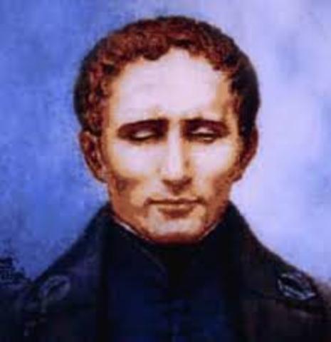 Louis Braille invents raised alphabet - Braille
