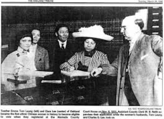 First Female Chinese Citizen