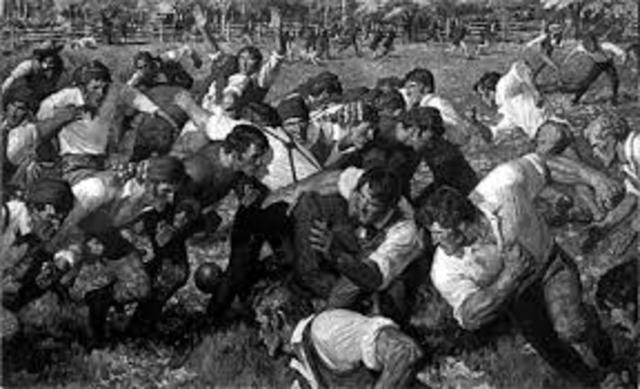 The first football game