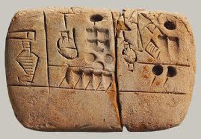 Writing is Invented 3100 BC
