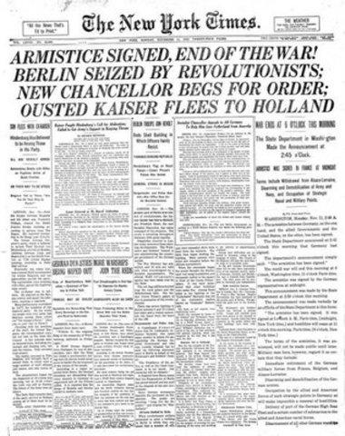 Fim da Primeira Guerra Mundial