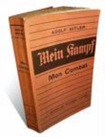 Publicação do livro de Hitler «Mein Kampf»