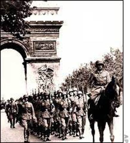 Oa nazis entram em Paris