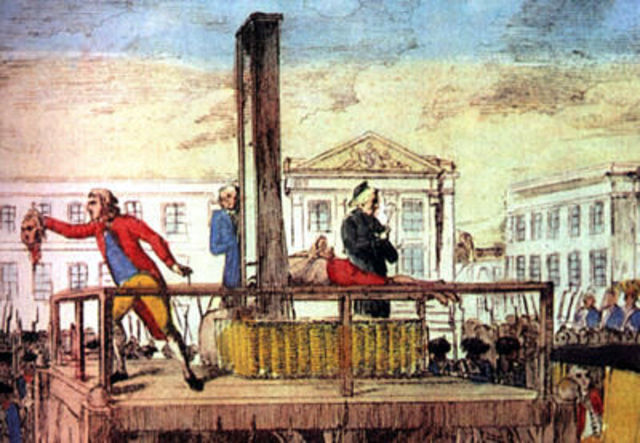 Louis XIV is executed