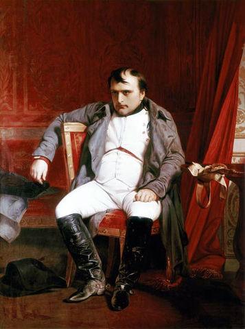 Napoleon Abdicates His Rule
