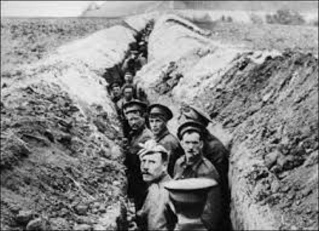 Trench lines begin to be used in WW1
