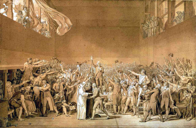 Tennis court oath shows determination of deputies to carry out a constitutional revelution