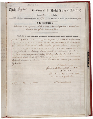13th Amendment to the Constitution