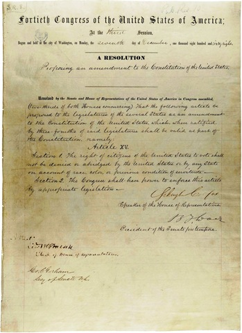15th Amendment to the Consitution