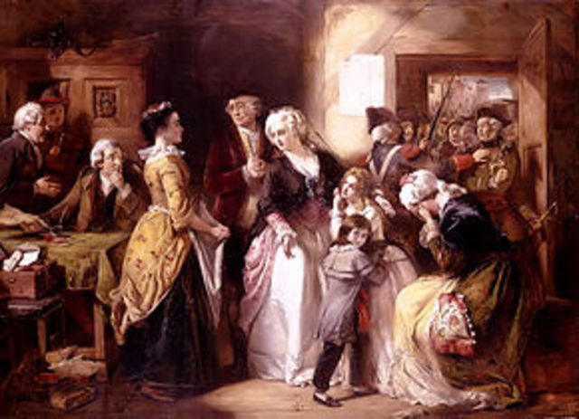 Louis and Marie Antoinette attempt to flee and are captured